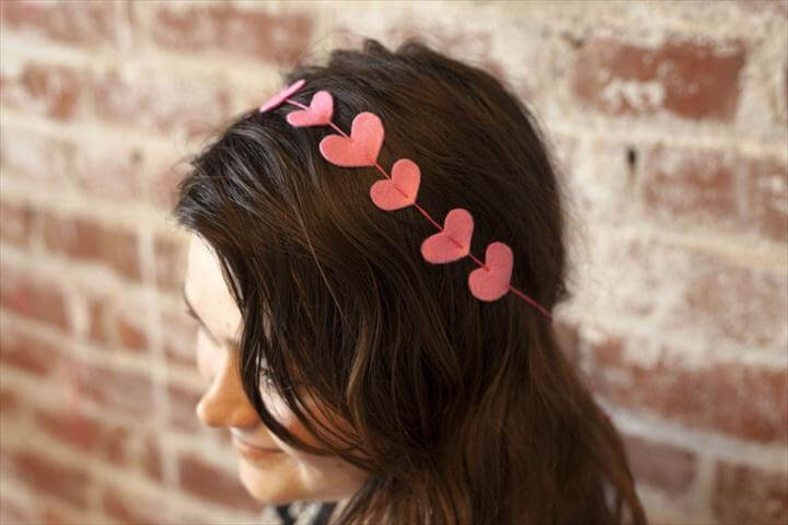 DIY Valentine's Day Heart Headband