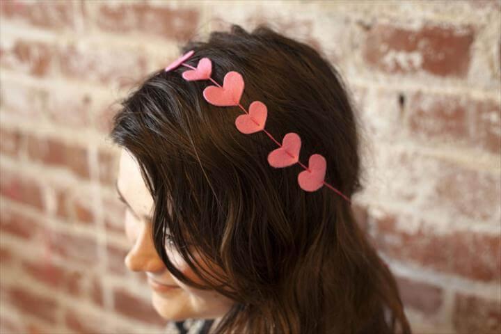 DIY Valentine's Day Heart Headband