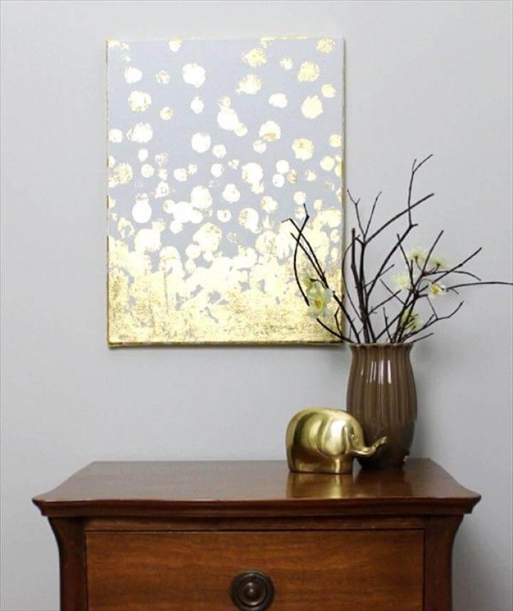 Wall art gold leaf.