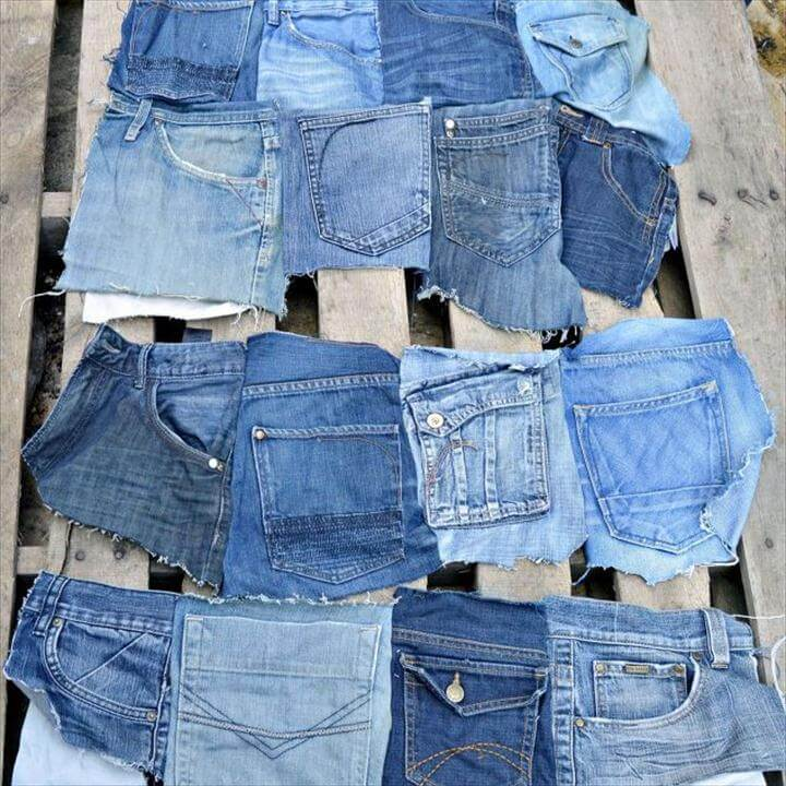 wall pocket organizer from old jeans, bedroom ideas, organizing, repurposing upcycling, storage