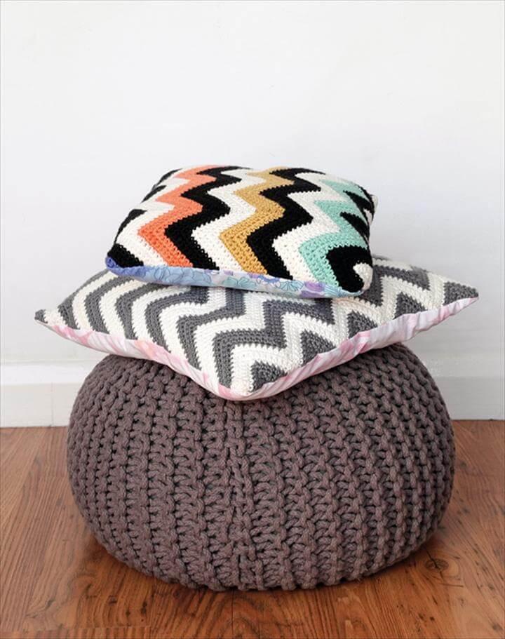Chevron crochet cushion patterns