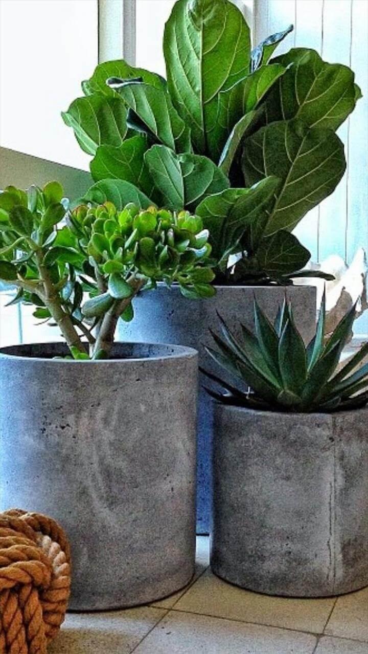diy amazing conceret planters