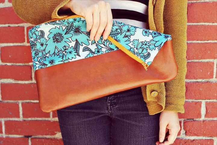 a classic leather envelope clutch.