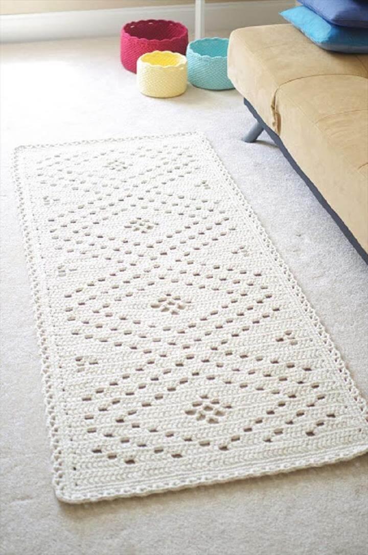 crochet handmade rug design