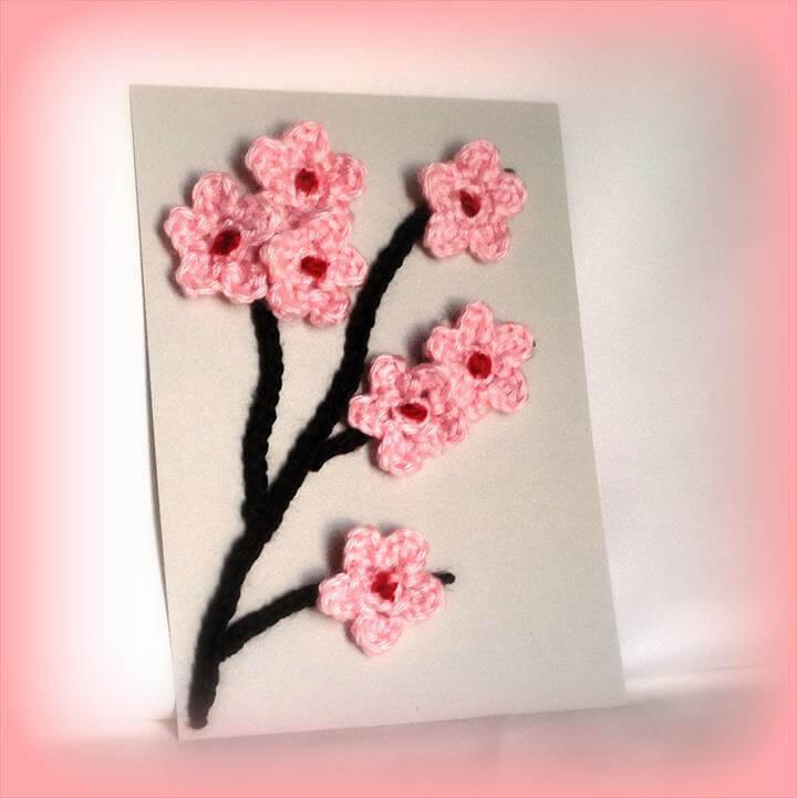 crochet pink walll art