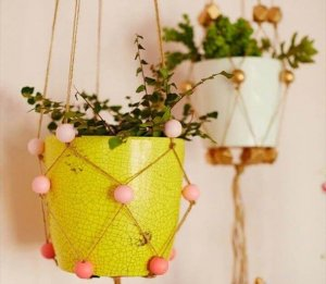 mini diy hanging planters