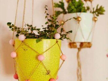 mini diy hanging planters