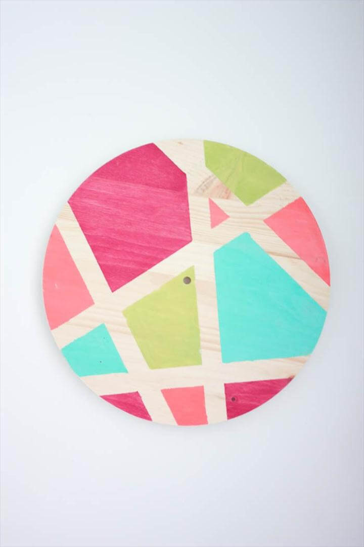 diy clock tutorial - DIY Abstract Clock, colorful clock design