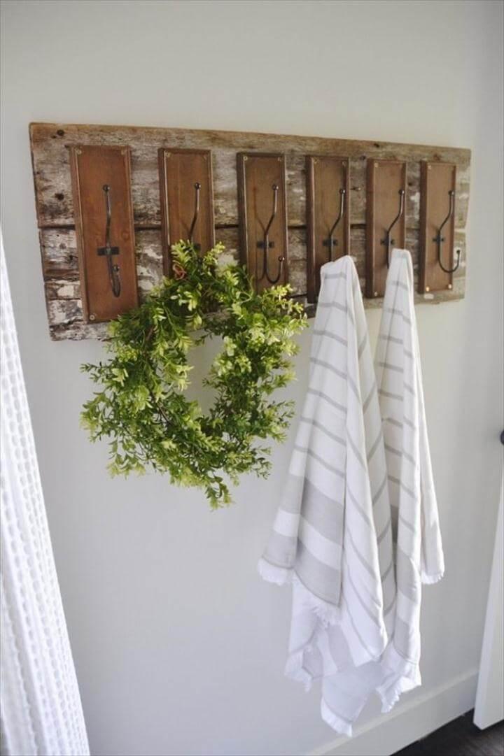 Bathroom Hooks, DIY Bathroom Decor Ideas - DIY Bathroom Hooks - Cool Do It Yourself Bath Ideas on