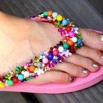 Do it yourself beaded flip flops