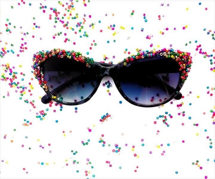 Fun, easy, colorful sunglasses makeover