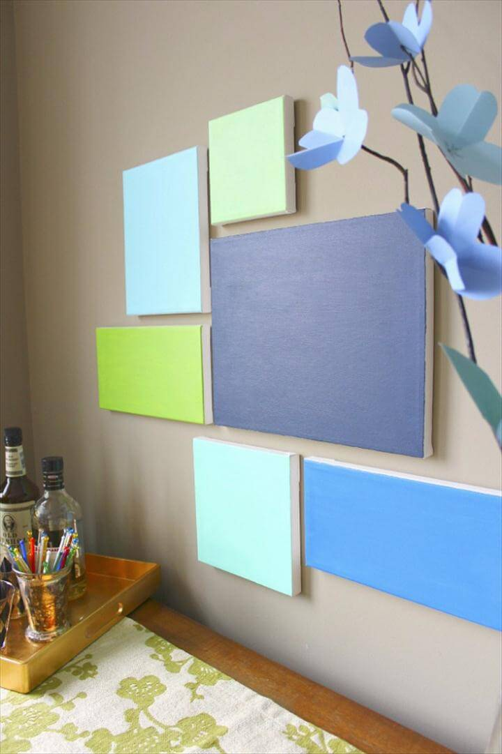 Wall Art Ideas for the Bedroom - DIY Canvas Art - Rustic Decorating Projects For