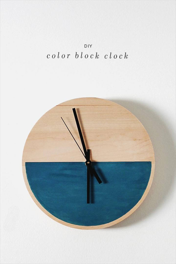 Color Block Clock DIY Tutorial