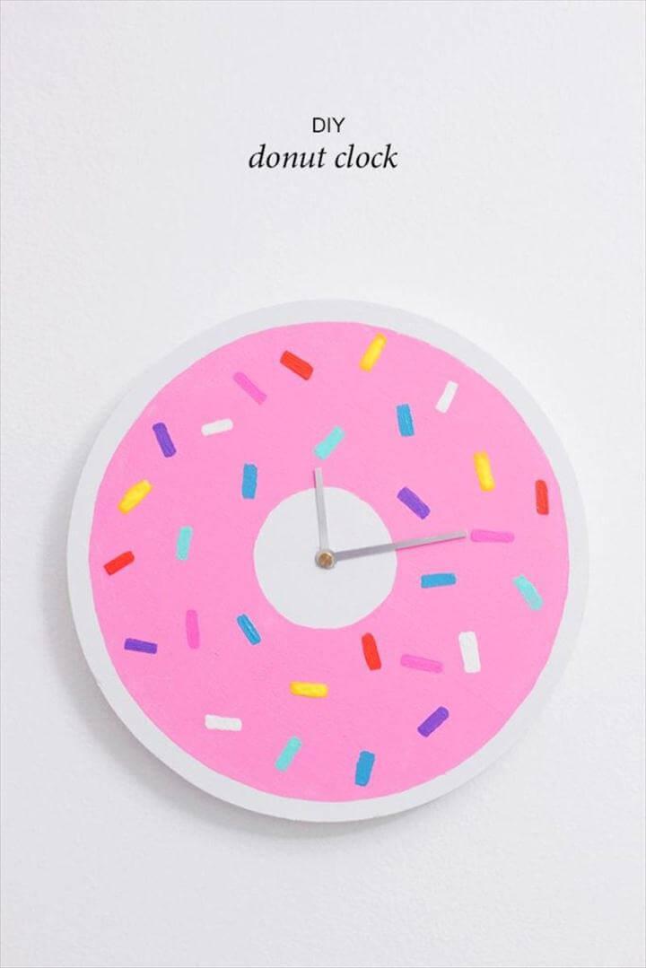delightful donut clock