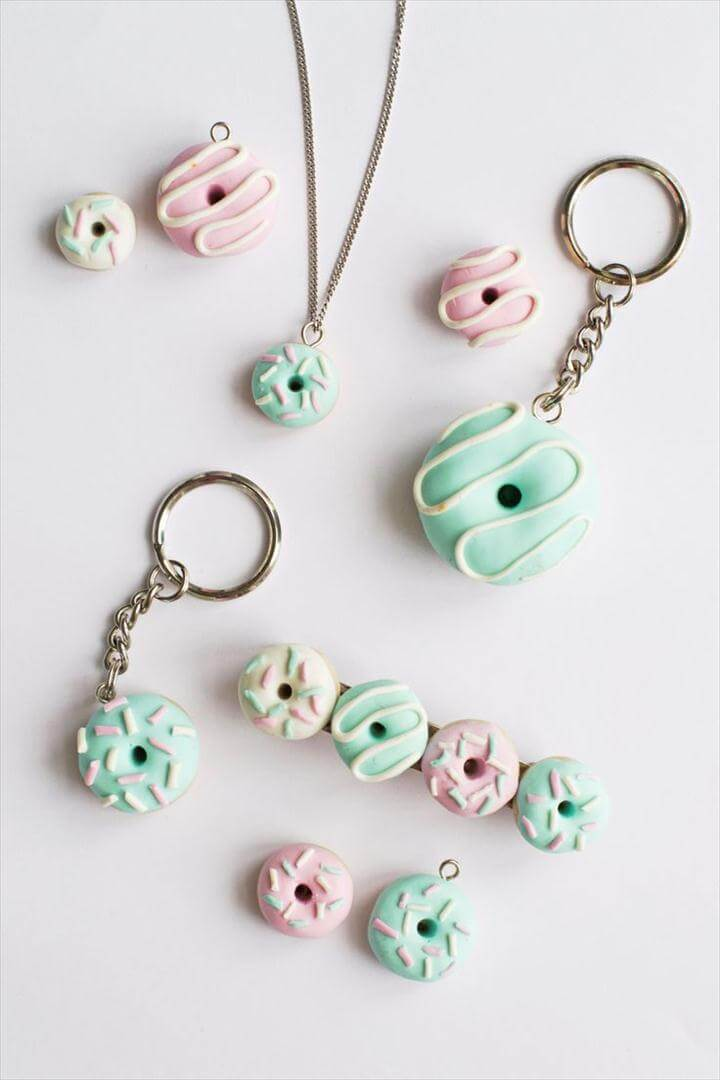 DIY Polymer Clay DonutsIf you've always wanted to try crafting with polymer clay,