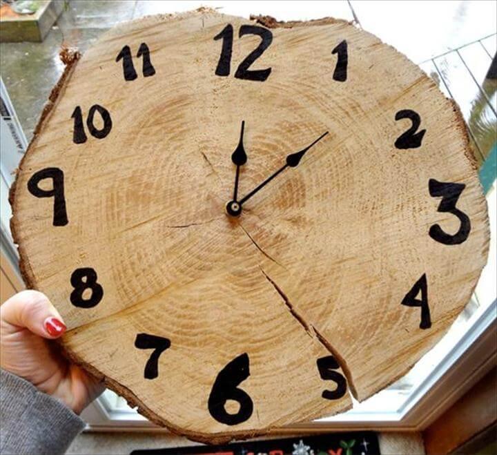 diy clock, handmade clock, diy wood working clock