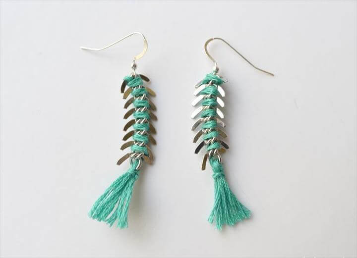 DIY Fishbone Earrings