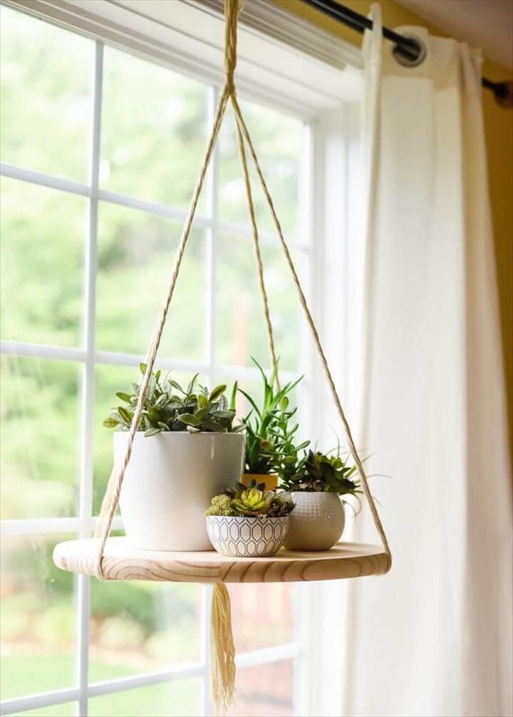 hanging shelf planters