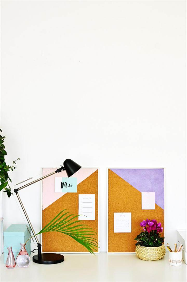 Color Blocked Pin Boards