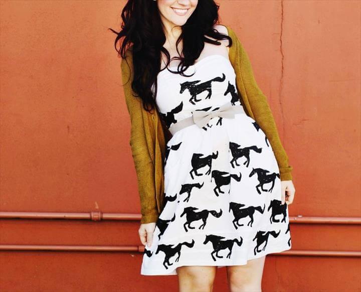 horse print summer dress