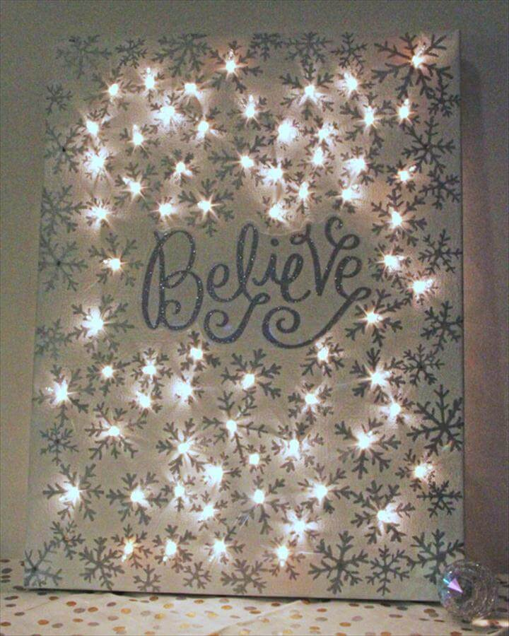 twinkly Christmas canvas