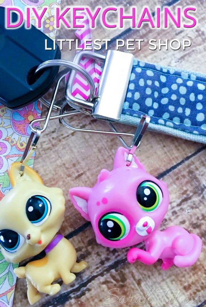 DIY Littlest Pet Shop Keychains