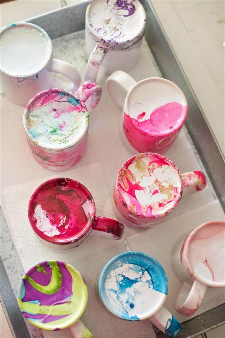 diy marble mugs, mug design