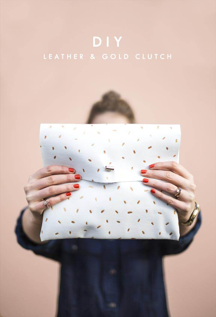 glitter dotted clutch