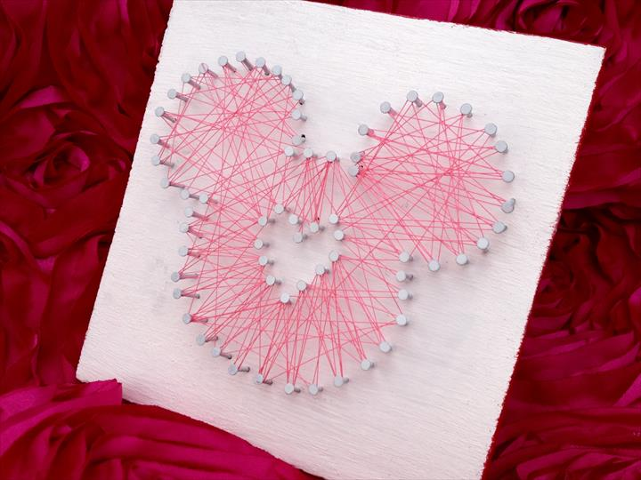 DIY Mickey String Art