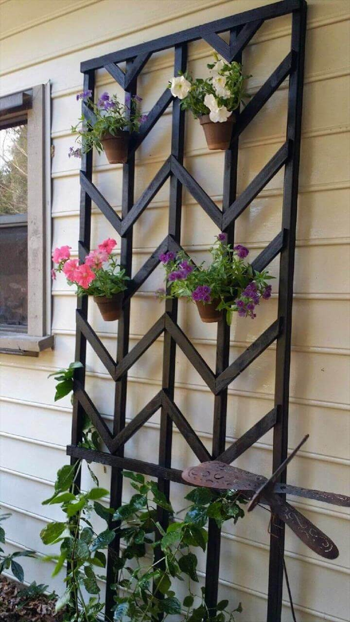 metal stand planters