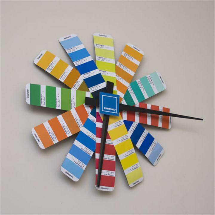 Pantone Clock, colorful clock