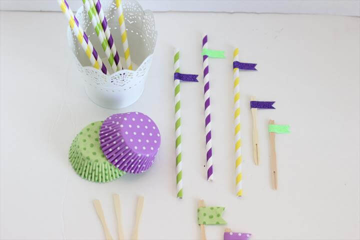 DIY Paper Straw and Cupcake Topper Embellishment Ideas