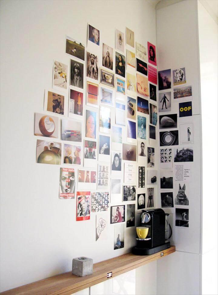 DIY Photo Collage Corner