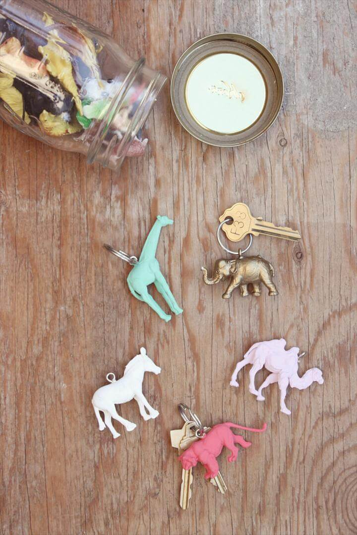 DIY Plastic Animal Key Chains