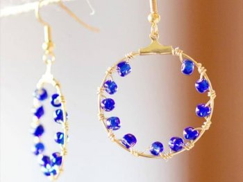 Gorgeous DIY Salacia Hoop Earrings