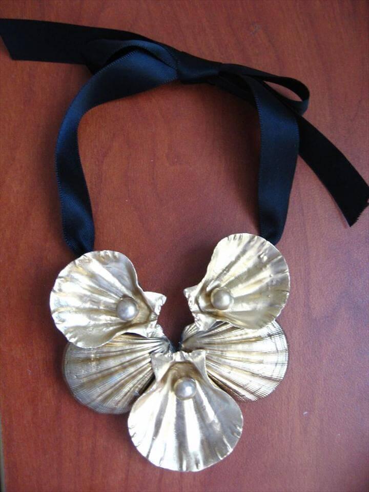 DIY Seashell Necklace.
