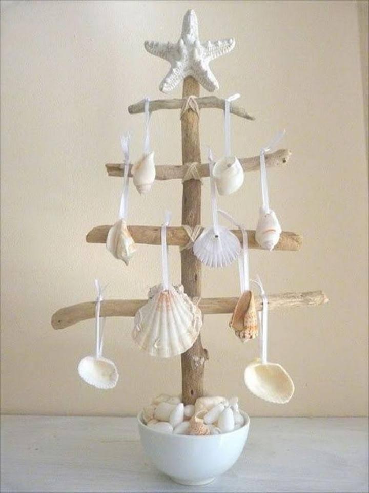 Seashell Tree. DIY Ornament, Unique Decor Ideas- Make Difference Using Diy Seashells