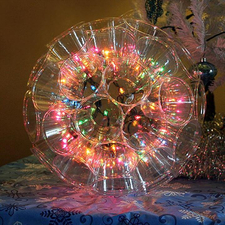 Sparkle Ball made with 9 ounce clear cups