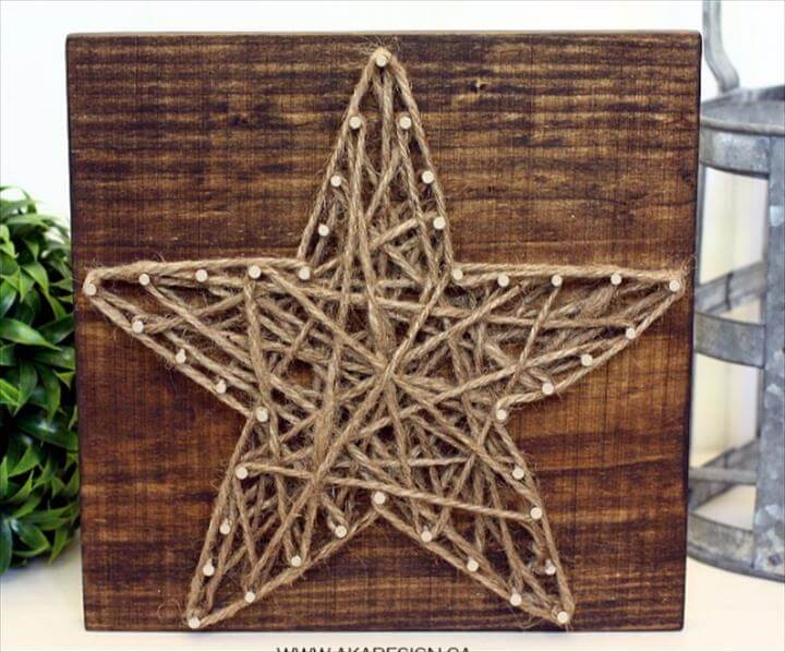 DIY String Art Projects - DIY String Art Star - Cool, Fun and Easy Letters