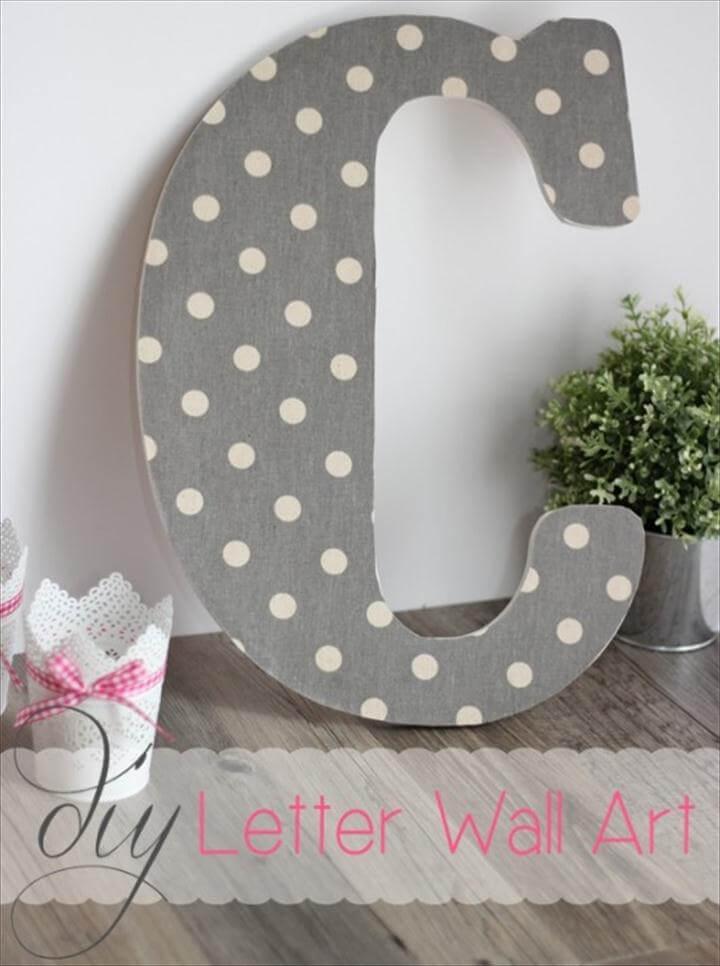 DIY Wall Art ~ Make Pretty Monogram Letters