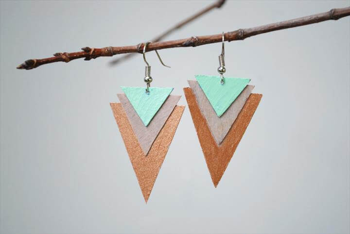 earrings, triangle earrings