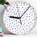 DIY Dotted Wall Clock, dotted clock for wall