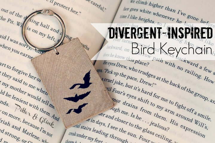 Divergent Inspired Bird Keychain DIY