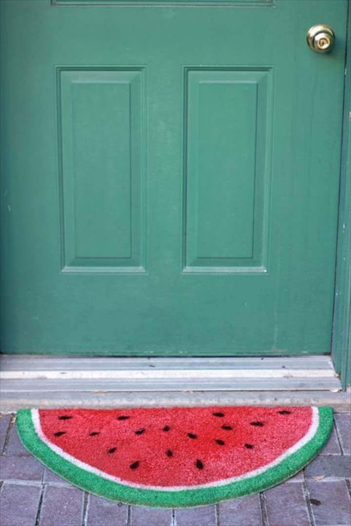 Watermelon DIY Roundup, Fruit mat,diy doormate, watermelon doormate,