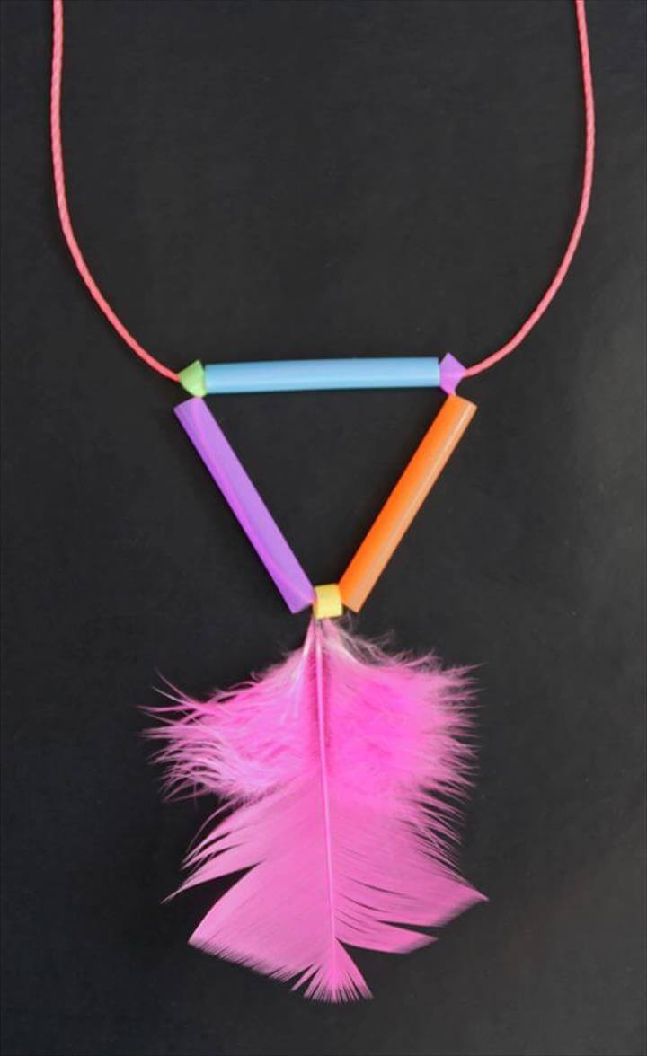 Shoelace & Straws Necklace