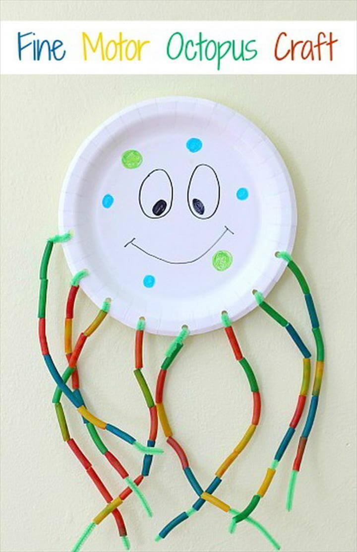 Fine Motor Octopus Craft for Kids.