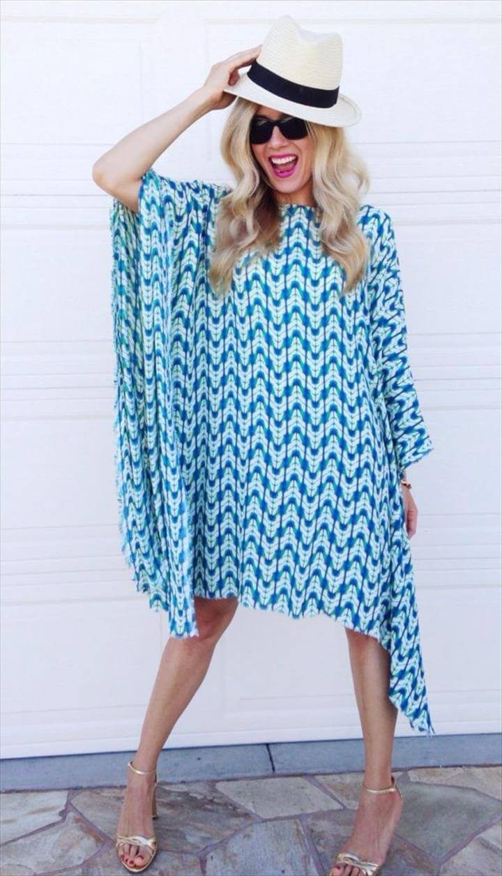 DIY Dresses to Sew for Summer - Easy Caftan Dress - Best Free Patterns For Dress