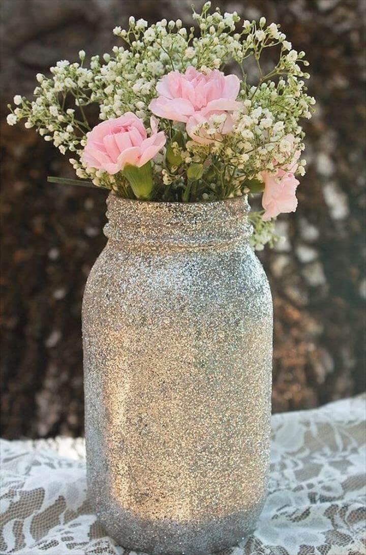 nice glitter mason jars
