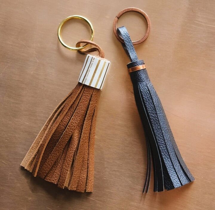 Free DIY Leather Tassel Tutorial