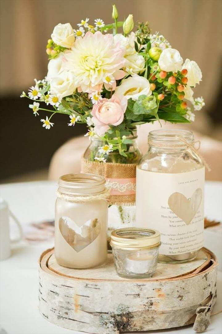 Mason Jar Centerpieces: Styling Your Rustic Wedding
